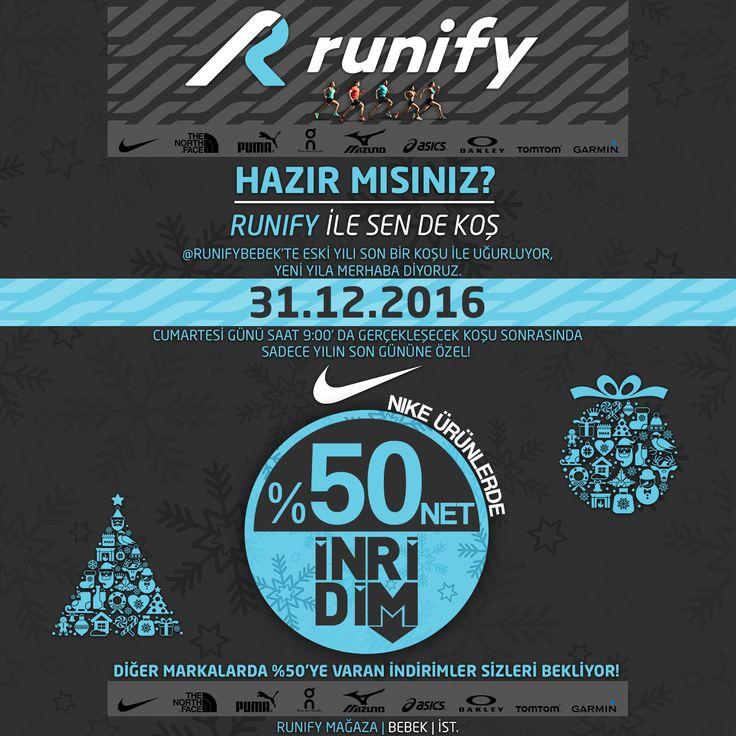 #Nike Ürünlerinde Yılbaşına Özel %50 İndirim!.. #nike #giyim #ayakkabı #sale #indirim #newyear #noel #chiristmas #northface #puma #oncloud #mizuno #asics #oakley #tomtom #garmin #runifybebek