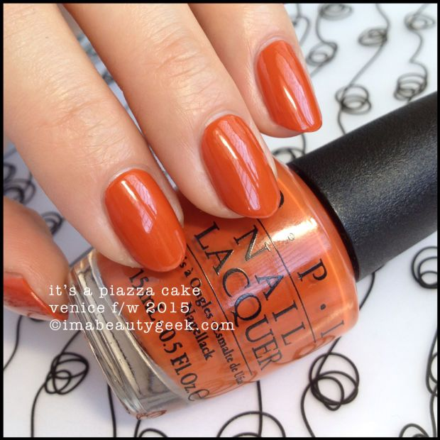 OPI It's a Piazza Cake – OPI Venice Collection 2015. There's a buttload of OPI Venice 2015 swatches at imabeautygeek.com