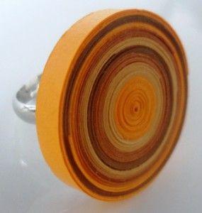 anello filigrana di carta girandola / quilling swirl ring