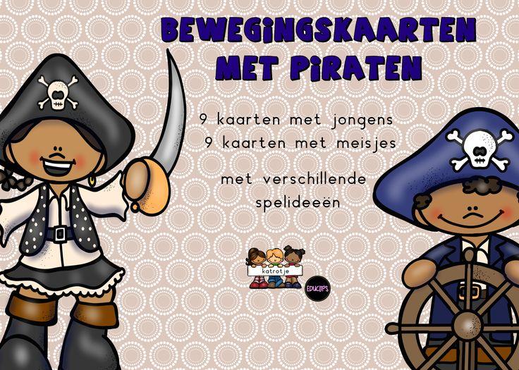bewegingskaarten met piraten van katrotje