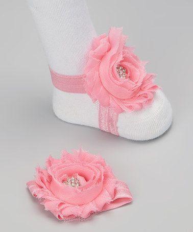 Barefoot Chic Baby Flower Sandals.