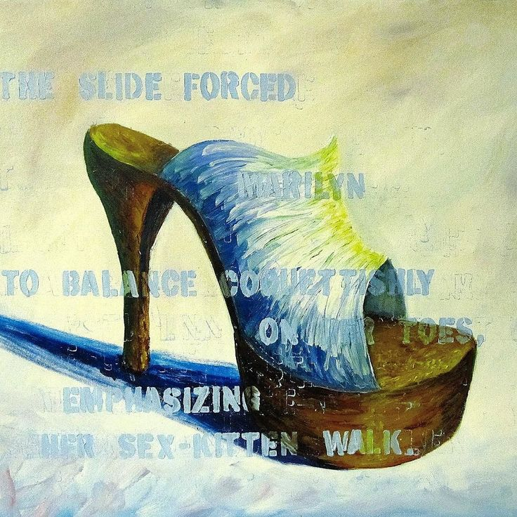 """March Forth? Or Fourth! Oil on canvas. 22""""x22"""". Part of a series of nine. Wayne Thiebaud inspired (can you tell?). They are now residing in a good home in Kansas City but they're an old favorite. Happy 4th! #art #painting #instaart #shoes #fashion #march by erinalisoncooke"""
