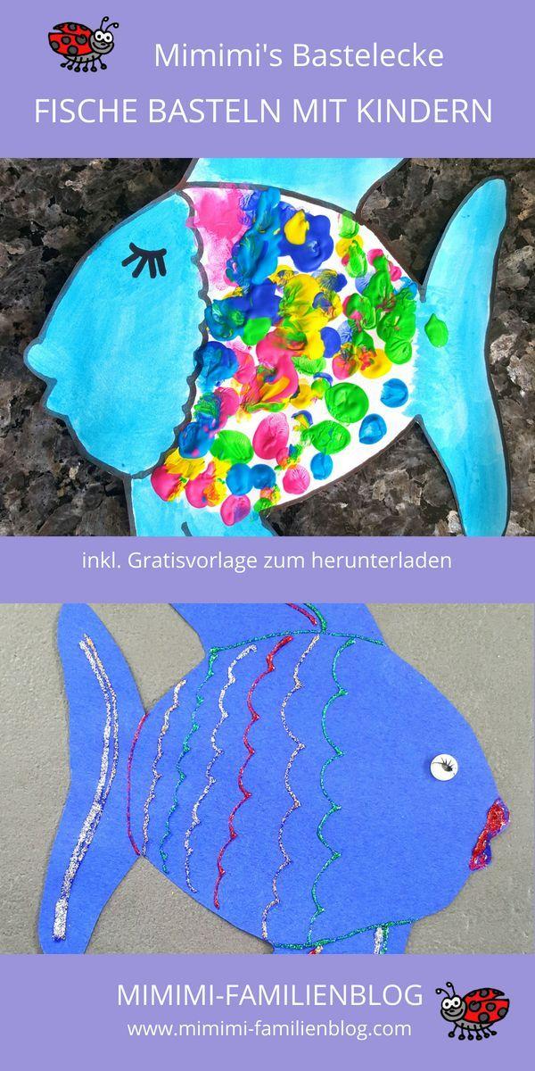 Fische basteln aus Papier inkl. Gratisvorlage Fische
