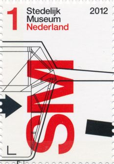 The Netherlands - Stedelijk Museum Stamp. Design by Experimental Jetset