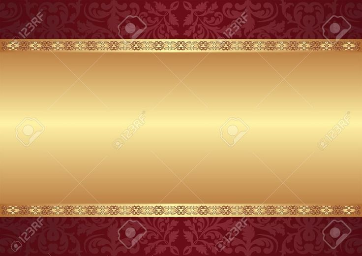 Maroon And Gold Background With Ornaments Royalty Free Cliparts ...