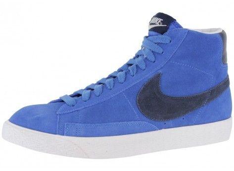 7d111346862c ... Nike Blazer Mid premium Vintage suede Chaussure pour Homme Bleu Blanc