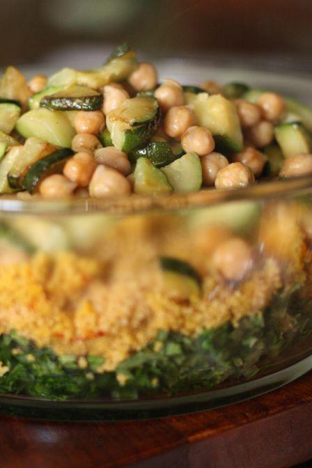 Saffron Zucchini Couscous