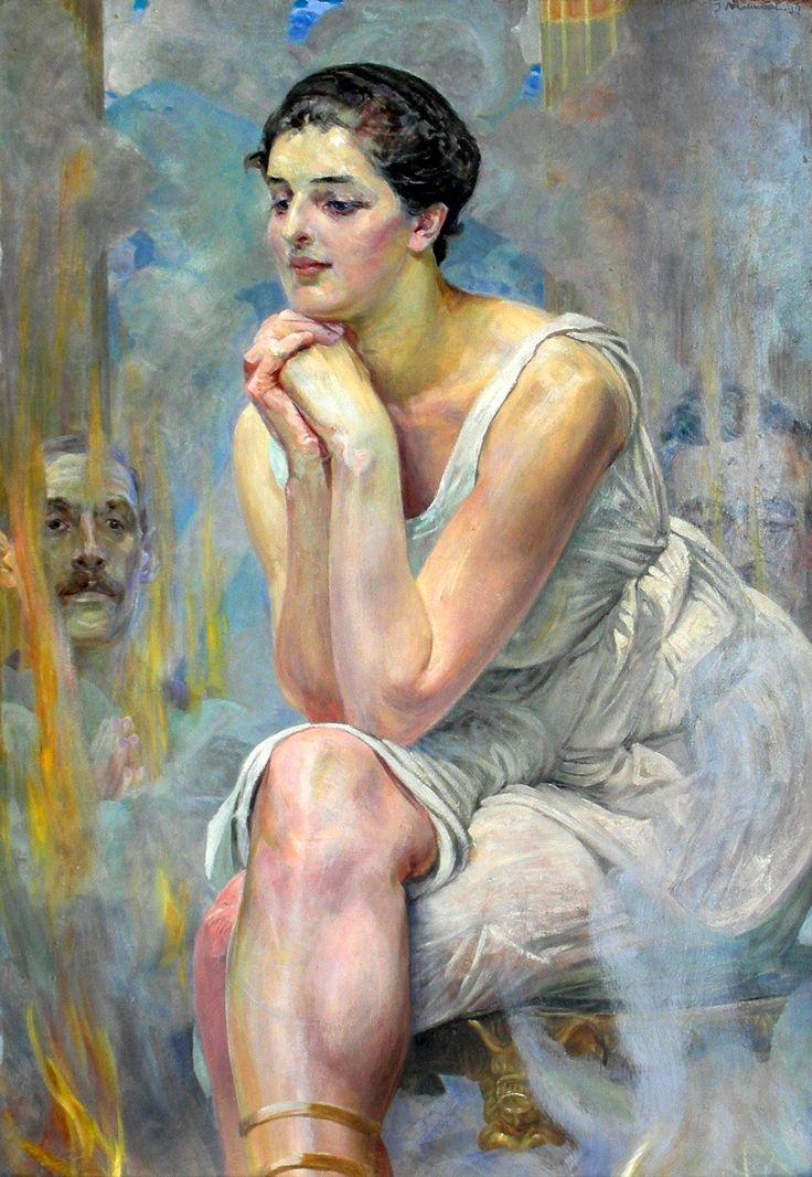 Malczewski, Jacek (Polish, 1854-1929) - Pythia - 1917