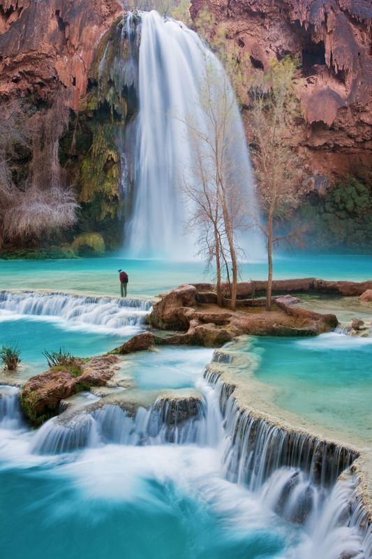 catarata... espiada. Havasu Canyon en el Gran Cañón