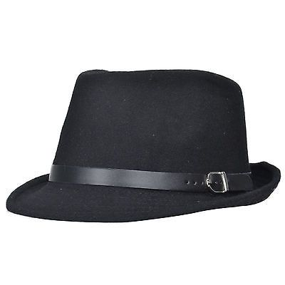 Summer Men's Beach Trilby Fedora Straw Panama Wide Brim Beach Cap Sun Hat