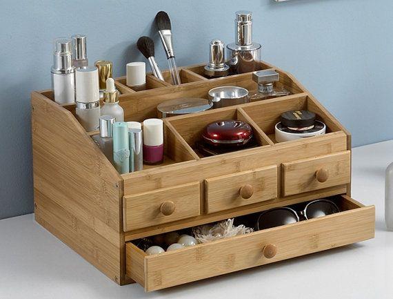 Baboo Makeup organizer Jewelry box wooden storage by GAMSAHAMIDA
