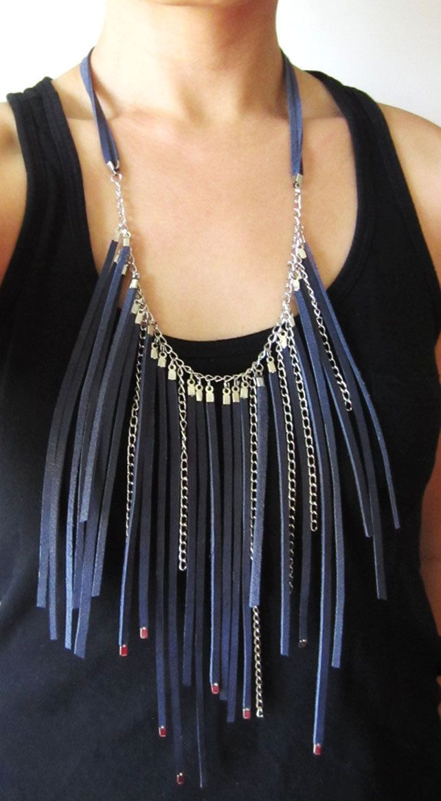 Stranded Leather Necklace