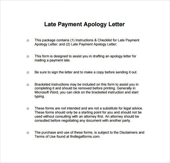 Sample Apology Letter For Being Late Free Documents Download Pdf