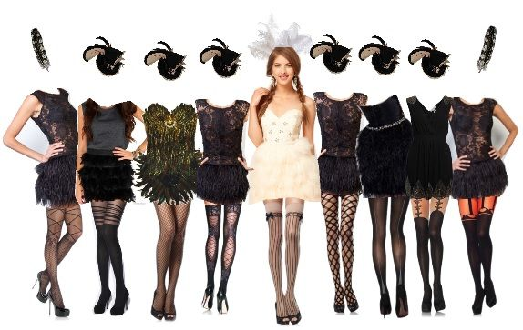 Burlesque themed hen party outfits on the BLOG. All tights available at www.essexeelegs.co.uk