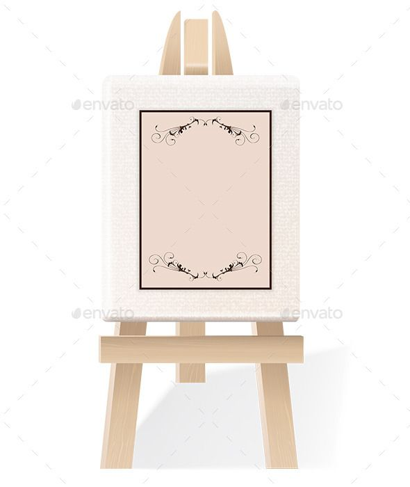 Blank Paper on a Decorative Wooden Easel