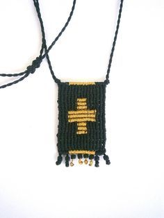 Macrame cross necklace/Macrame cross by Ancientmacrame on Etsy