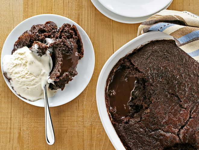 Warm & Oozy Chocolate Pudding Cake Recipe - Above & Beyond