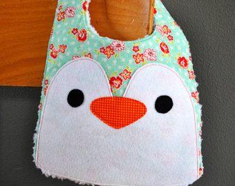 Pájaro o pingüino bebé babero PDF patrón, patrón de costura, patrones de costura PDF, baberos del bebé hecho a mano coser a bebé patrón, Instant Download, PDF