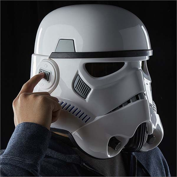 So you've finally joined the dark side, but due to budget cuts the Galactic Empire no longer provides their standard issue uniforms and Sith Lord isn't being too receptive of your complaints. Fret not, with this Electronic Stormtrooper Helmet you'll look and sound like the faceless enforcer of the New Order.   #starwars #darkside #stormtrooper #sithlord #darthvader #voicechanger #helmet #cosplay #costume #replica