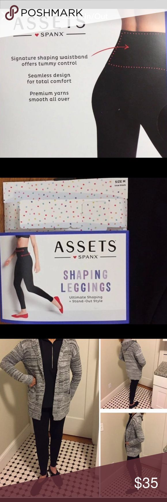 Assets by Spanx Black Leggings NWT Size M. Assets by Spanx Black Leggings NWT Size M. Tummy control. Smooth all over.  •••••This is a FIRM PRICE••••• Assets By Spanx Pants Leggings