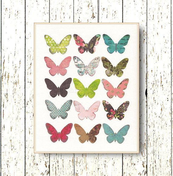 Butterfly wall art decor  Living room art  kids wall by LilChipie, $14.00