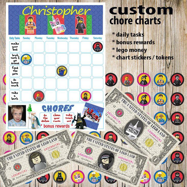 Kids Chore Chart,Lego Planner Printable,Kids Reward Chart,Responsibility Chart,Positive Behavior Chart,Star Chart,Kids Planner,Weekly Chart by DigitalArtMovement on Etsy