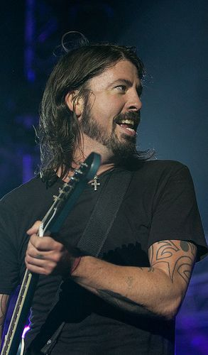 Dave Grohl- love him! I will add him to my uber talented musician crush category!