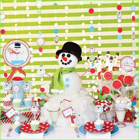 cute winter wonderland childrens party idea.