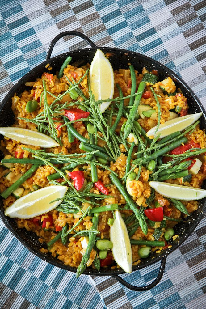 Vegetarian Paella with Samphire | Demuths Cookery School