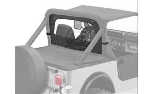 Bestop Soft Top Windjammer Cloth Black Denim Jeep CJ5 CJ7 Scrambler