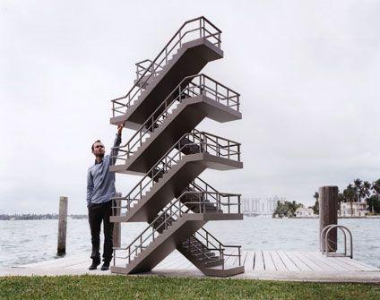 Best Scissor Stairs Architecture Design Pinterest Posts 400 x 300
