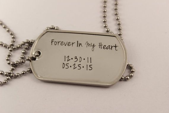 Personalized, Dog Tag Necklace / keychain with your choice of text - Stainless steel - Inspire, new parent gift, bridal party gift