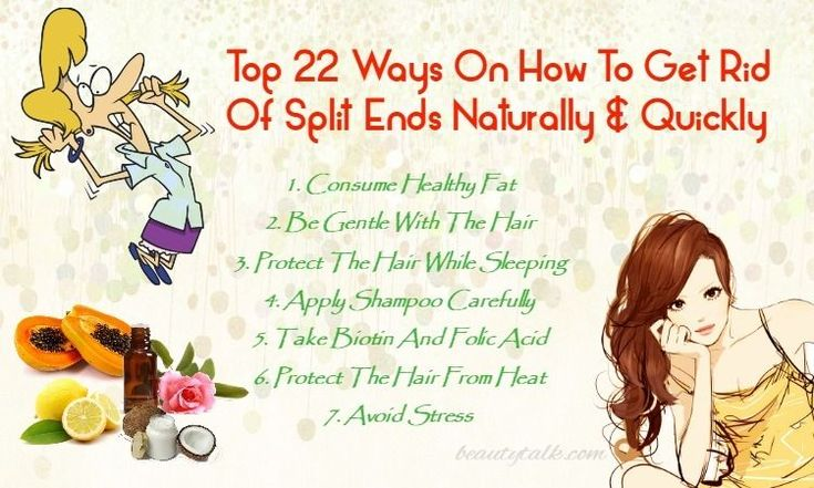 Ways To Get Rid Of Split Ends Naturally