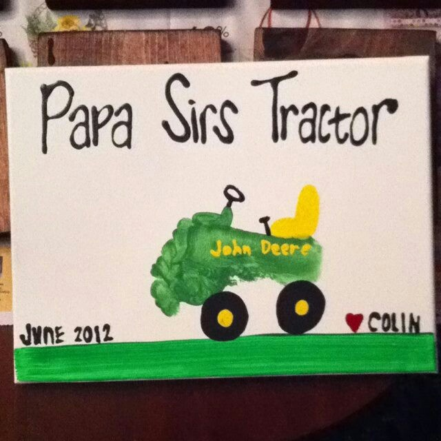 Father's Day craft idea- Cooper for dad-  Red tractor