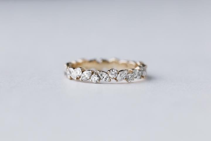 Marquise Cluster Diamond Wedding Bands Eternity Ring Diamond Eternity Ring