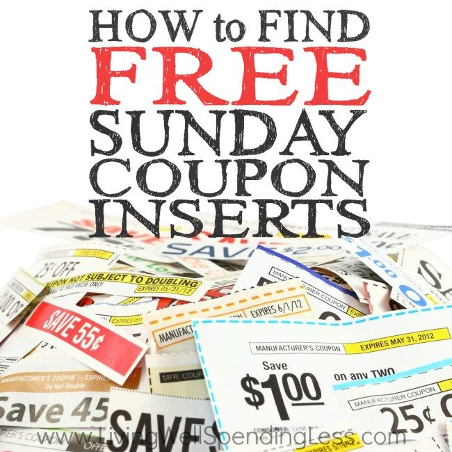 How to Find FREE Sunday Coupon Inserts #cereal #coupons http://coupons.remmont.com/how-to-find-free-sunday-coupon-inserts-cereal-coupons/  #find free coupons # How to Find FREE Sunday Coupon Inserts First of all, I just want to thank all of you for your super-kind comments yesterday. It was actually a very hard day, and when I sat down at my computer I was overwhelmed by all the sweet things you had to say. You may not know this, but your comments mean the world to me. I read each and every…