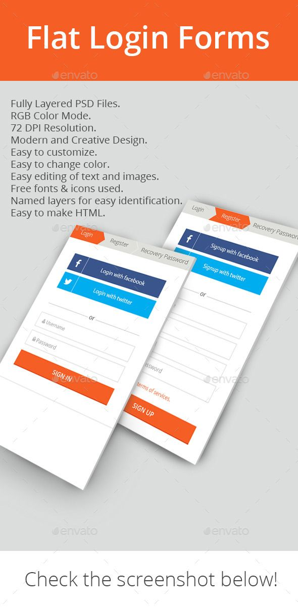 website forms template