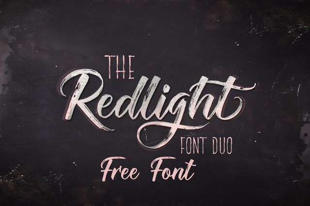 DLOLLEYS HELP: The Redlight Font Duo Free Font