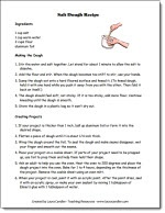 Free salt dough directions to send home with students for projects