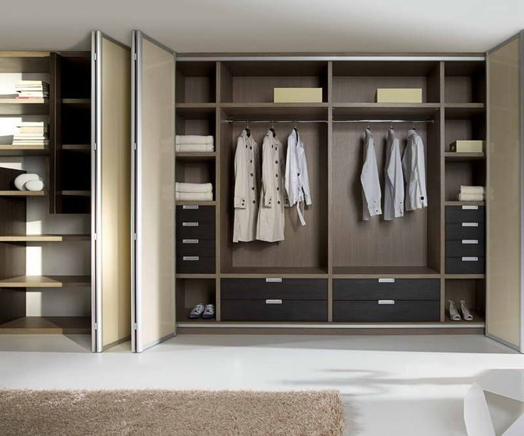 Pax Closet System With Brown Carpet
