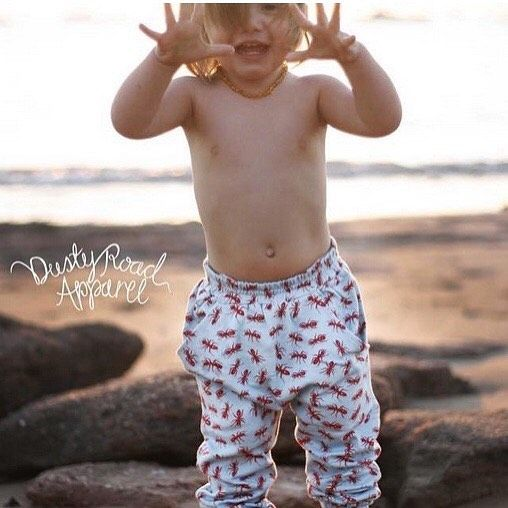 Loving @dustyroadapparels spin on Australiana! No amount of spray will stop these #djantsplaypants from crawling their way into mischief. Super soft and comfortable. 100% certified #OrganicCotton. . . . #PugglePost #PugglePosse #DustyRoadApparel #OrganicKids #Australiana #AntsPants #OrganicKidsClothes #OrganicKidsWear #OrganicKidsFashion  #DesignedInAustralia #DesignedInAU #InspiredByAustralia #InspiredByNature #HaremPants #OrganicBaby #CandidChildhood #ShopSmall #Sustainable #KidsforReal…