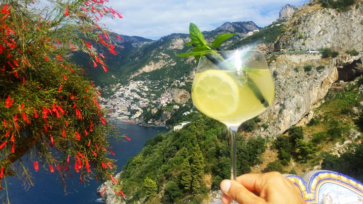 Limoncello is the first ingredient for this fresh drink. Great to have it on the main terrace at the sunset.