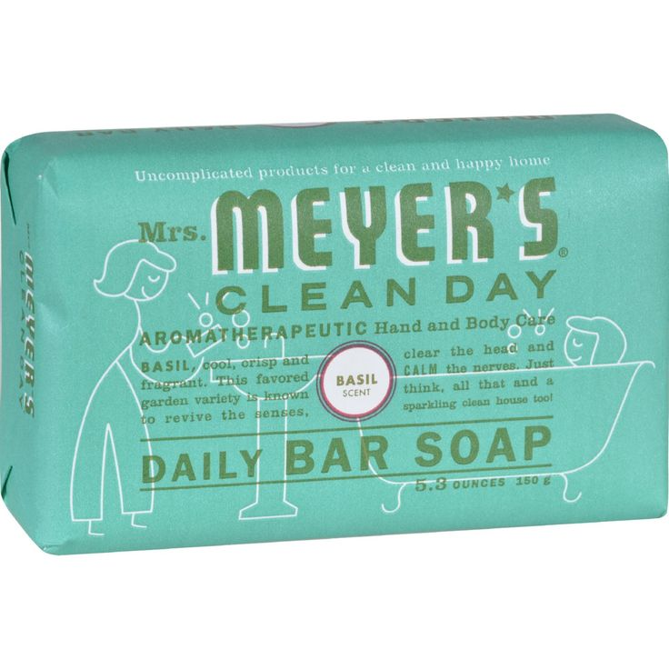 Mrs. Meyer's Bar Soap - Basil - 5.3 oz - Case of 12