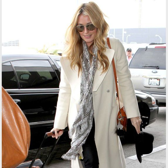Cat Deeley was spotted wearing Jane Carr at the airport