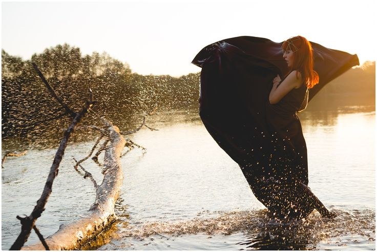 thISme, arina varga, fashion, dress, black, embroidery lace, water, river, head piece, rada ureche, sabina mladin, monica popmark, Arad, design, long, gown, fairytale, woods, wonderland