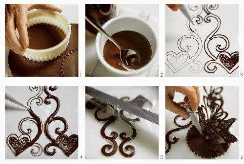 Cozinhando pra ser Feliz: Decoração com Chocolate -Várias Ideias