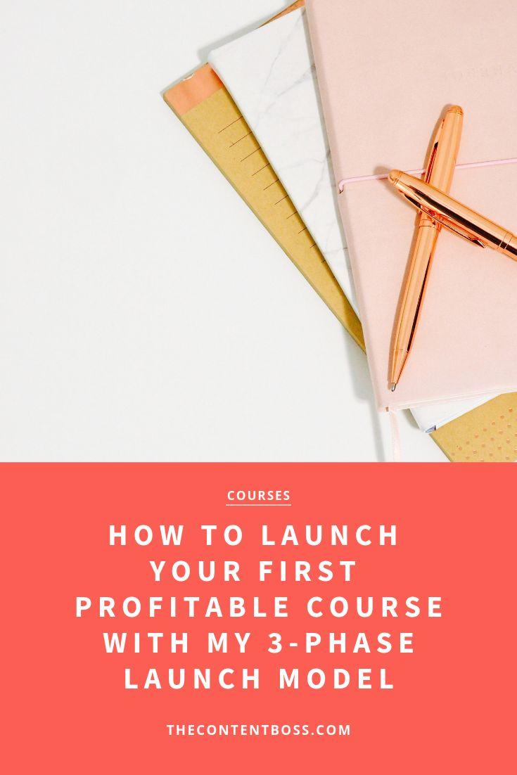 So starten Sie Ihren ersten profitablen Kurs mit meinem 3-Phasen-Startmodell