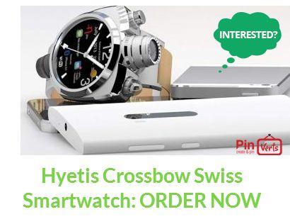 Hyetis Crossboe Swiss Smart Watch: Order now