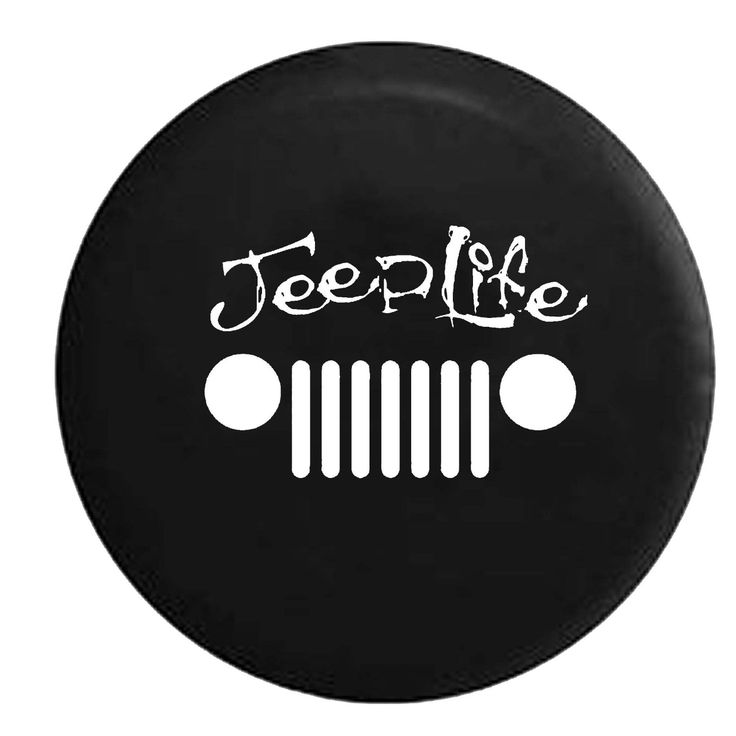 Amazon.com: Jeep Life Grill Wrangler JK TJ CJ Spare Tire Cover OEM Vinyl Black 34-35 in: Automotive