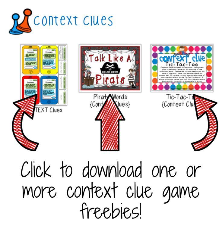 Classroom Freebies: Context Clue Game FREEBIES!